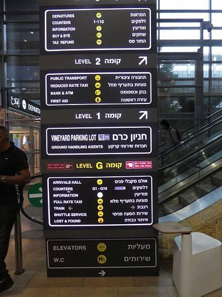 Infotafel  Airport Gurion